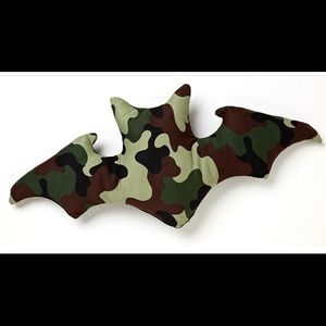 Other - Cameo print bat shaped pillow